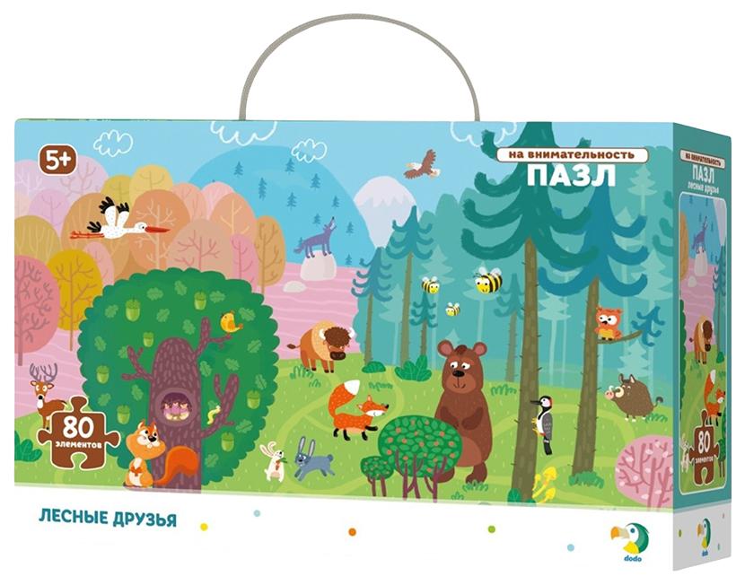 Купить Пазл 80 эл. на внимательность Лесные друзья R300140 Vladi Toys, Пазлы