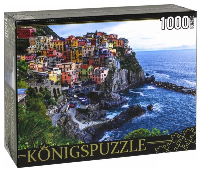 Купить Konigspuzzle. Пазлы 1000 элементов. Италия. Манарола, Рыжий кот