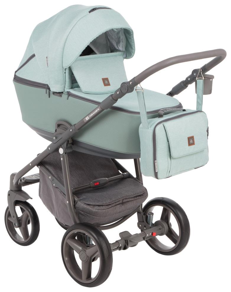 Купить Коляска 2 в 1 Adamex Barcelona BR-218 цвет зеленый, Детские коляски 2 в 1