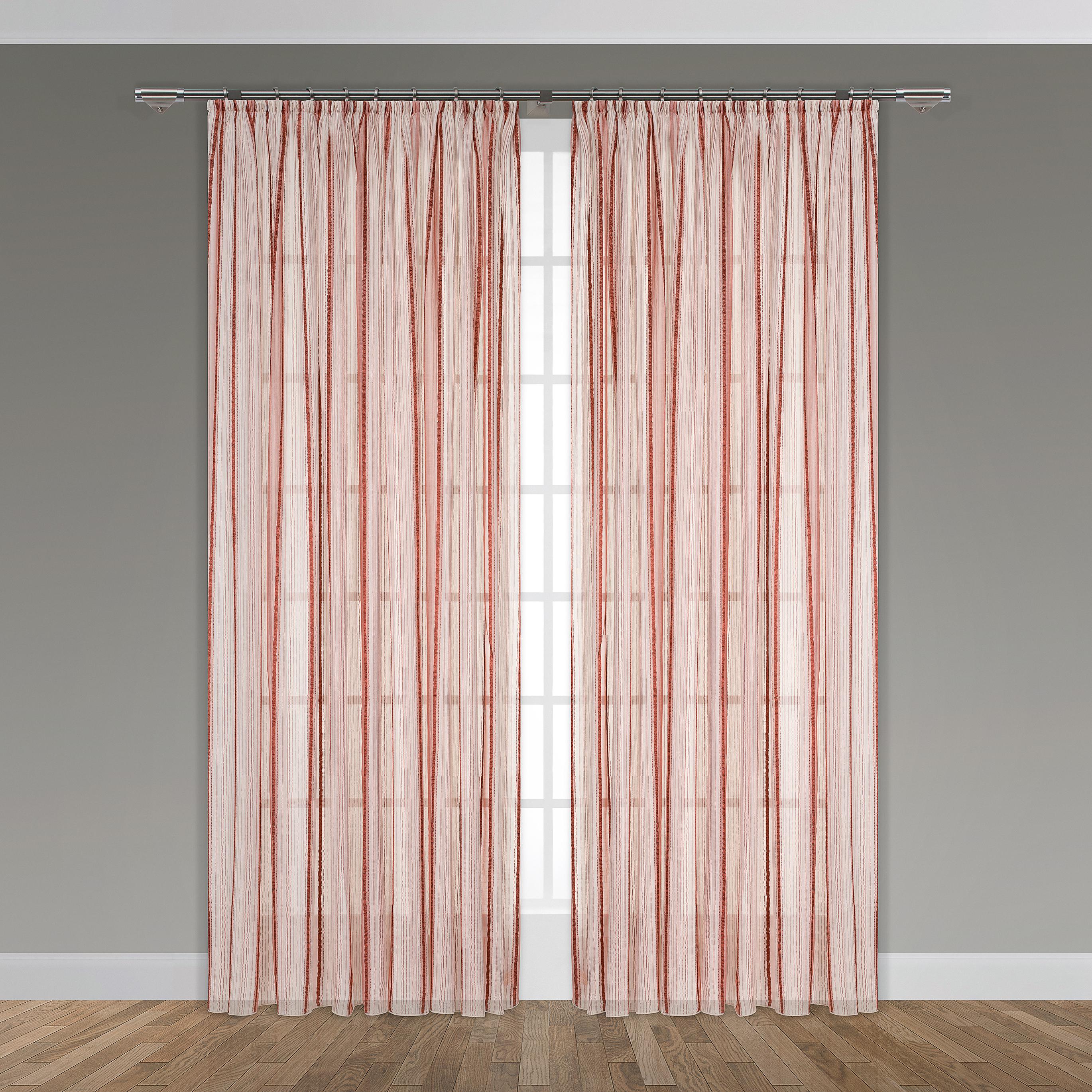 Классические шторы DAILY by T Бруклин Цвет: Бордовый, высота 260 см