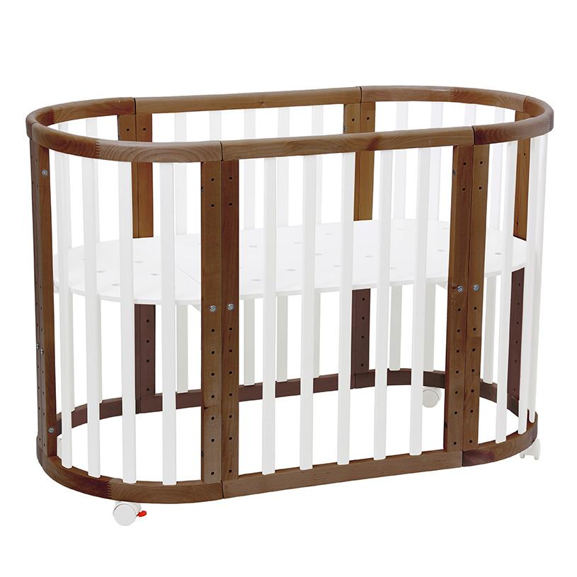 Купить Кроватка-трансформер детская Polini Kids Simple 911 белый/дуб,