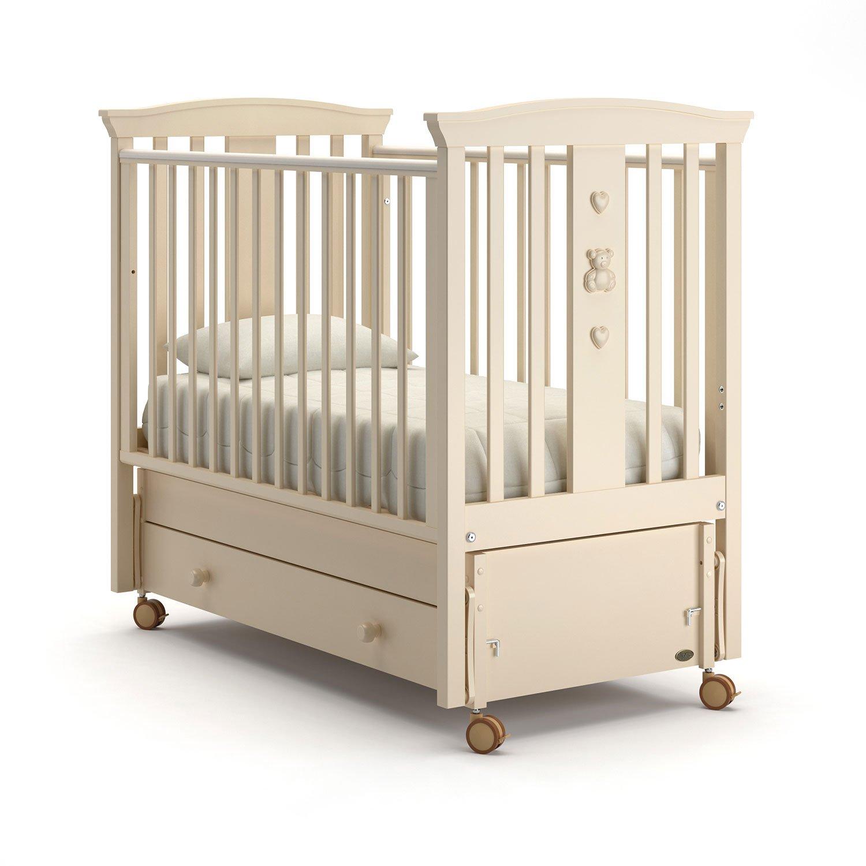 Купить Детская кровать Nuovita Fasto swing продольный Avorio, Слоновая кость, Классические кроватки