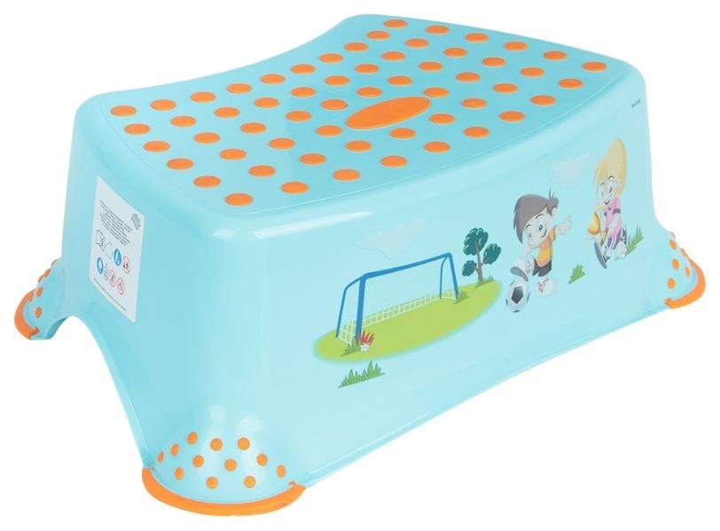 Купить Подставка-табурет для детей Keeeper Футбол Голубой, Аксессуары для купания