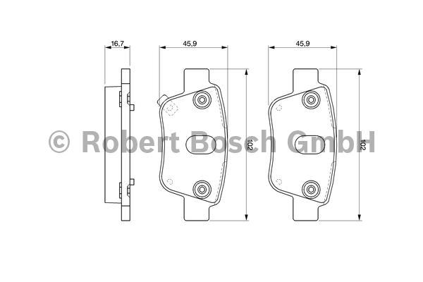 Комплект тормозных колодок Bosch 0986424798