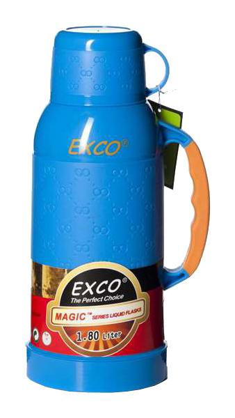 Термос Exco MC180 1,8 л голубой/желтый/зеленый