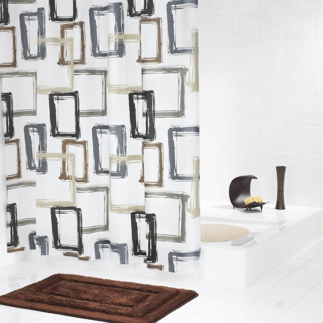 Штора для ванных комнат Pattern бежевый/коричневый 180*200