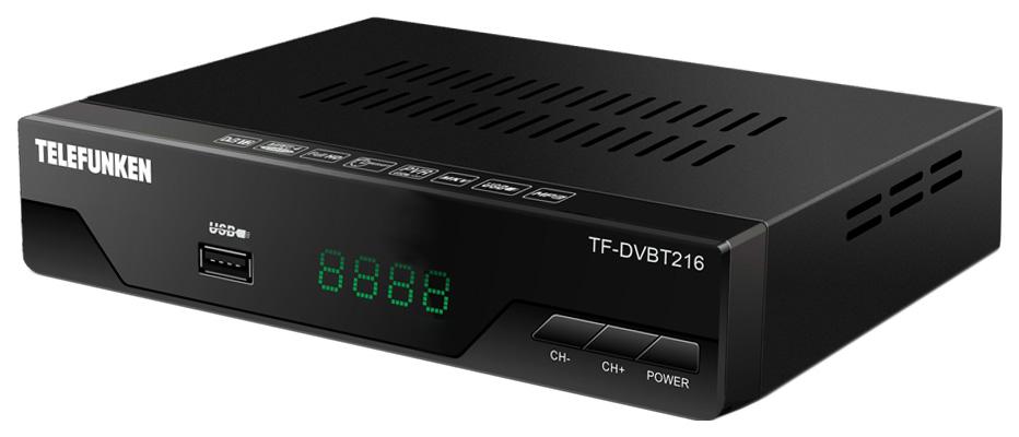 DVB-T2 приставка Telefunken TF-DVBT216 black