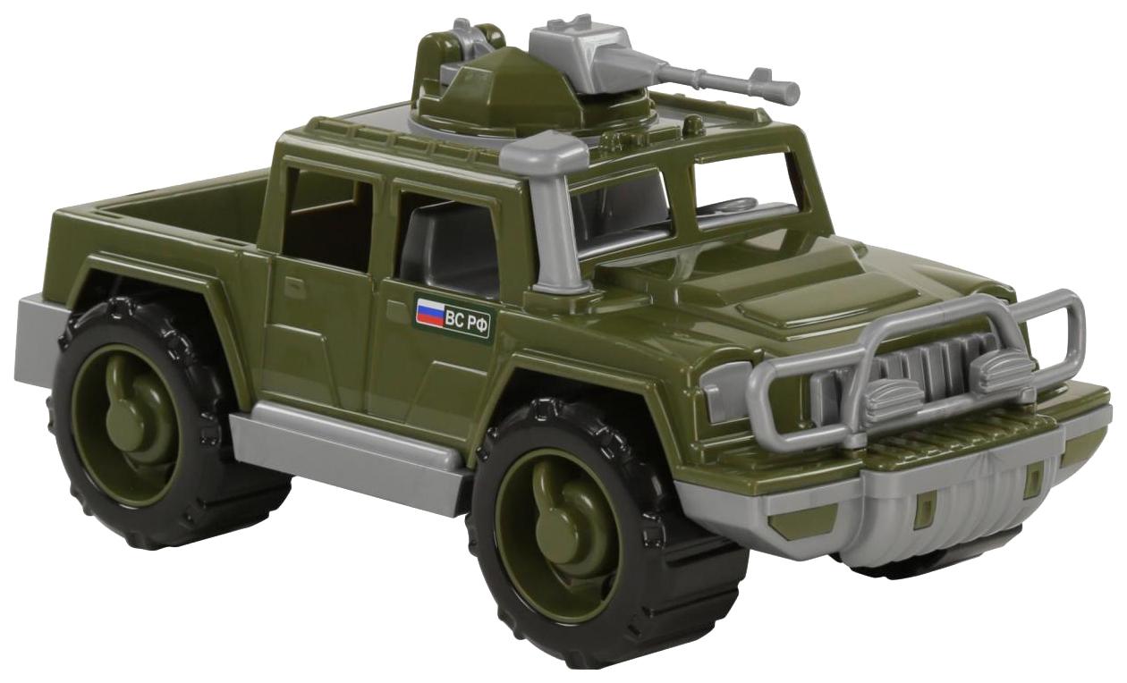 Купить Игрушки, Автомобиль-пикап Полесье военный Защитник с 1-м пулемётом, Игрушечные машинки