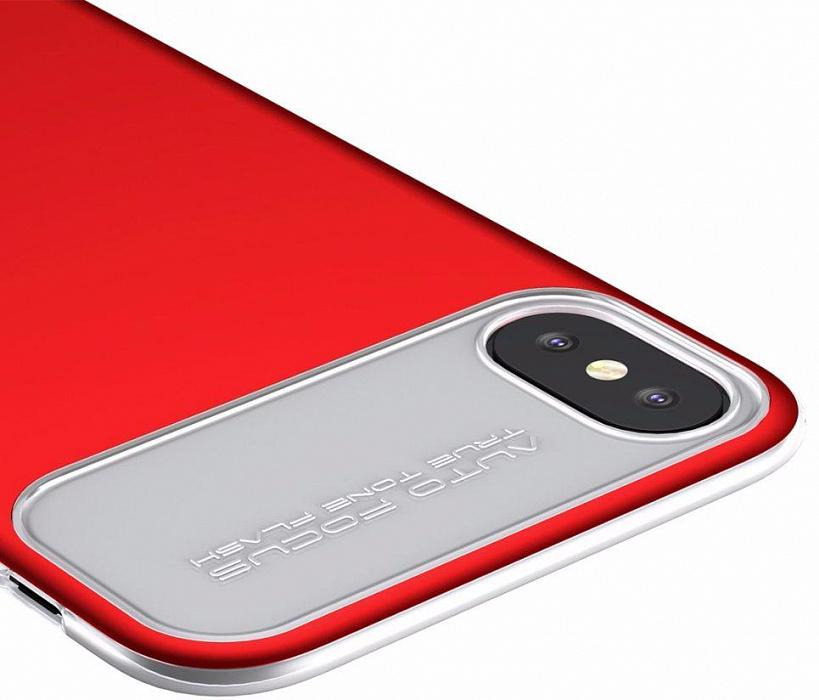 Чехол Baseus Slim Lotus Case (WIAPIPHX-QF09) для Apple iPhone X (Red)