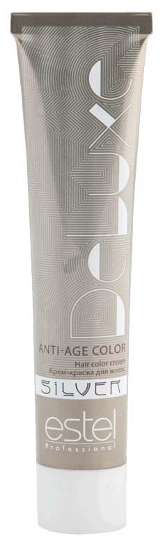 Краска для волос Estel Professional De Luxe Silver 6/7 Темно-русый коричневый 60 мл
