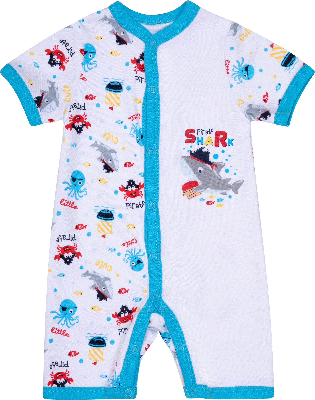 Купить Комбинезон детский Barkito Маленький пират белый с рисунком, S19B0138U(1) р.80, Детские комбинезоны для мальчиков