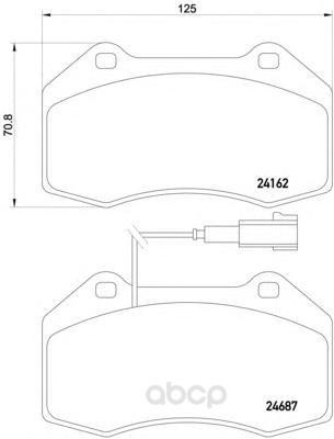 Колодки тормозные дисковые передние alfa romeo mito, fiat grande punto Textar 2416202 фото