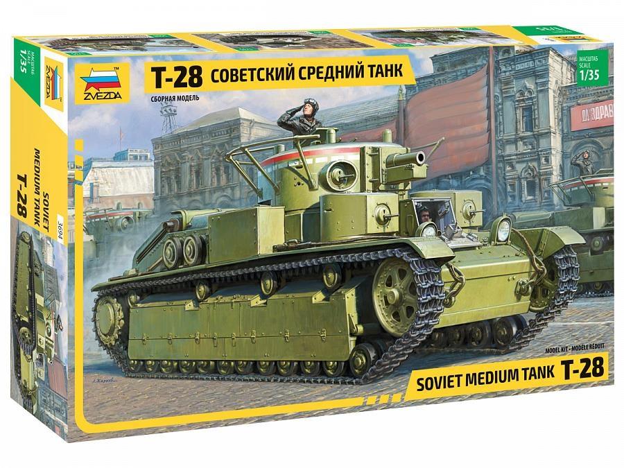 Модели для сборки ZVEZDA Советский средний танк Т-28 1:35