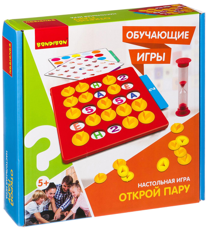 Купить Настольная игра Bondibon Открой пару, Семейные настольные игры