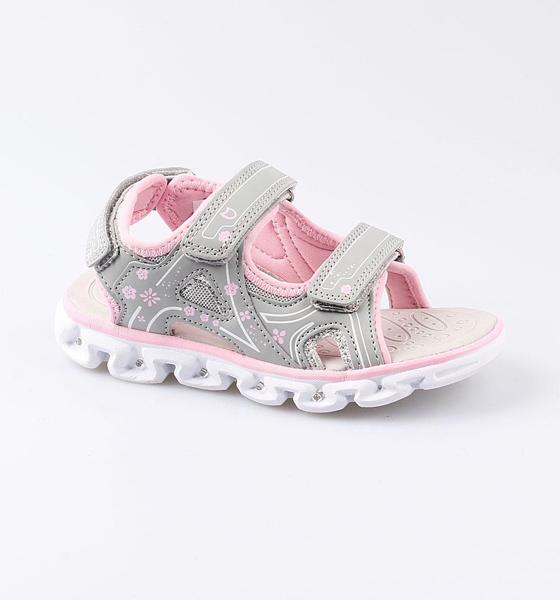 Купить Пляжная обувь Котофей для девочки р.35 524049-12 серый, Шлепанцы и сланцы детские