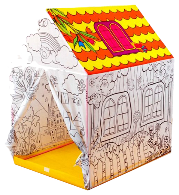 Палатка игровая Наша Игрушка  Раскраска в наборе фломастеры 8 шт.