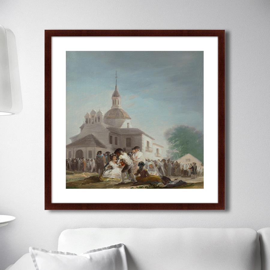 Картина Saint Isidore's Day At The Saint's Hermitage, 1799г,, 78,5х78,5см фото