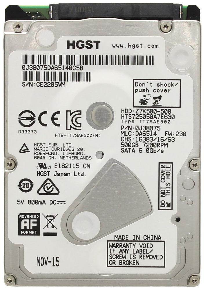 Внутренний жесткий диск HGST Travelstar Z7K500 500GB