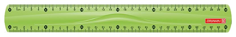 Линейка Brunnen BR49730 52 30 см зеленая