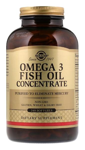 Купить Omega-3 Fish Oil Concentrate, Omega 3 Solgar Fish Oil Concentrate 240 капс.