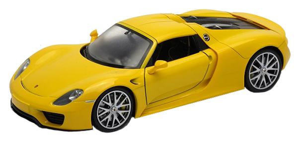 Модель машины 1:24 Porsche 918 Spyder Welly 24055