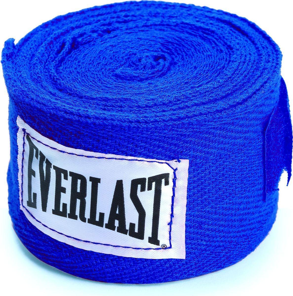 Бинт боксерский Everlast 4465BL, 2.5 м, хлопок, синий