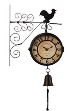 Часы Репка садовые двусторонние с колокольчиком К0801-20