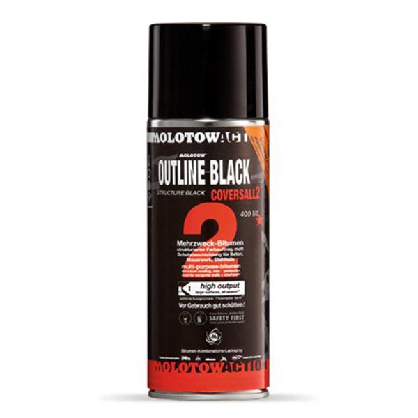 Аэрозольная краска Molotow Coversall 2 Outline Black 400 мл
