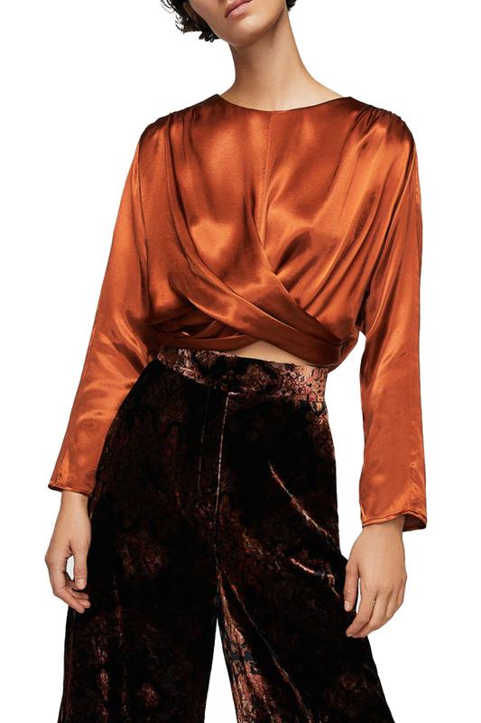 Блуза женская MANGO коричневая S