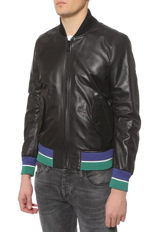 Куртка кожаная мужская Tommy Hilfiger черная 52