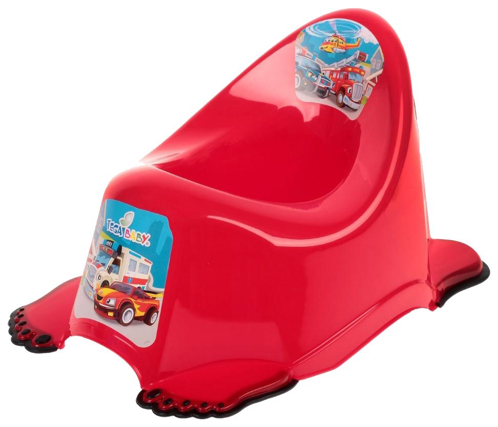 Горшок Tega baby Машины антискользящий красный