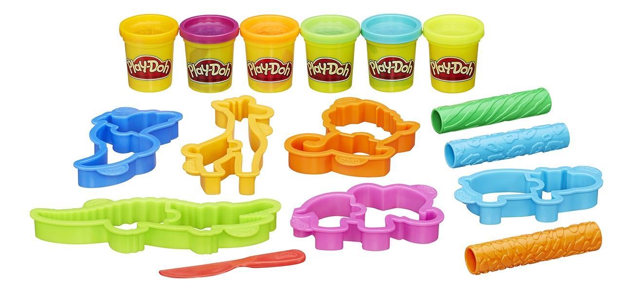 Набор для лепки из пластилина play-doh веселое сафари b1168 фото