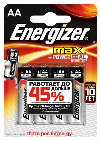 Батарейка Energizer MAX E91/AA BP4 4 шт