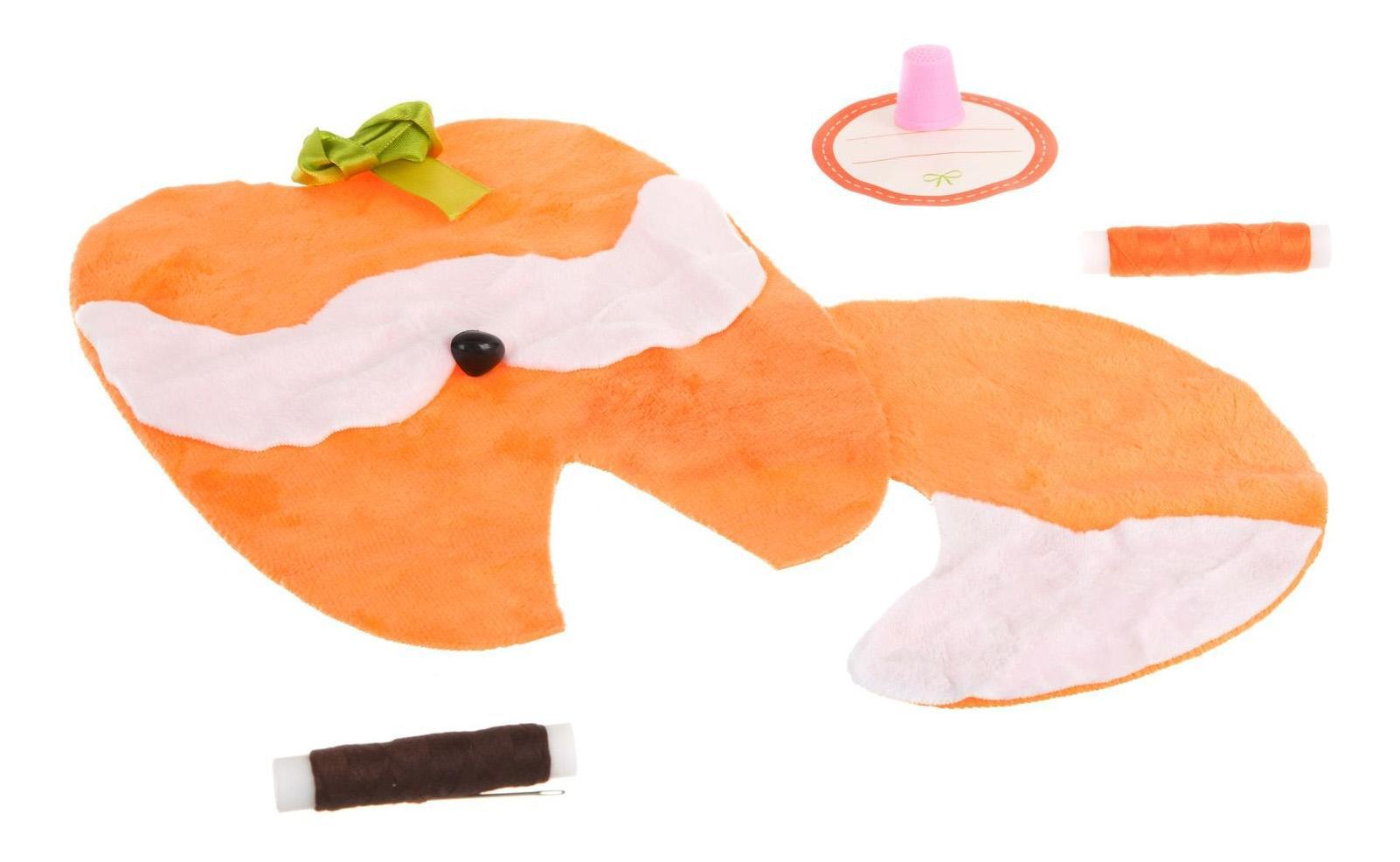 Купить Набор для творчества Bondibon шьем из плюша! игрушка своими руками. лисичка, Рукоделие