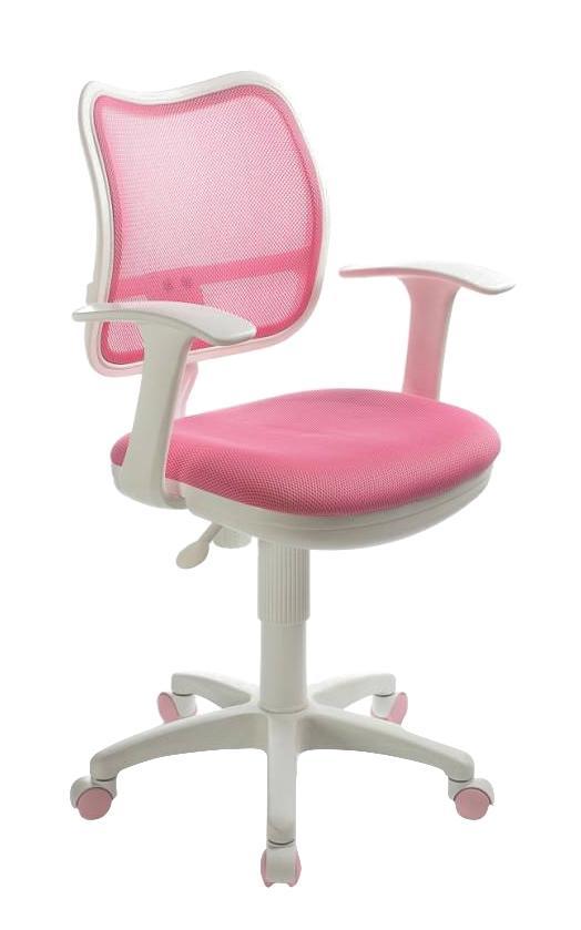 Компьютерное кресло Бюрократ CH W797/PK/TW 13A, белый/розовый