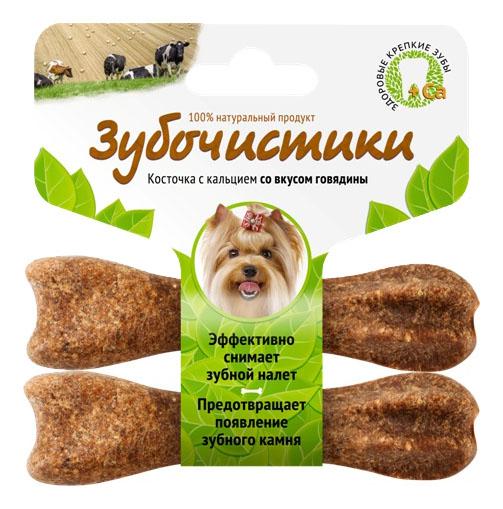 Лакомство для собак Деревенские лакомства Зубочистики, с говядиной, для мелких пород, 40г