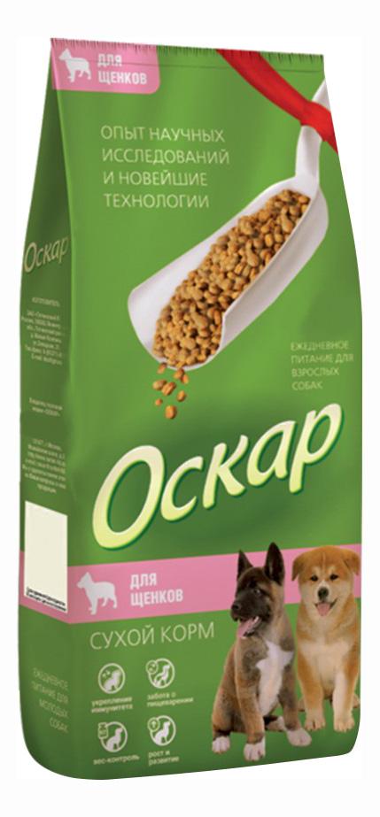 Сухой корм для щенков Оскар, все породы, мясо, 2кг