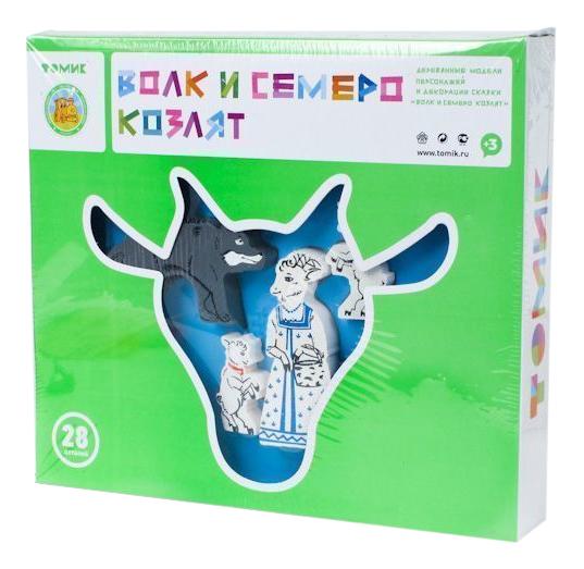 Купить Волк И Семеро Козлят, Конструктор деревянный Томик Сказки. Волк и семеро козлят, Деревянные конструкторы