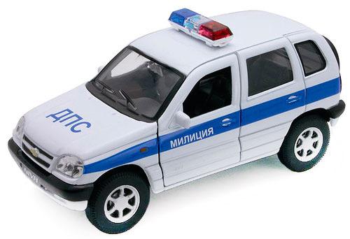 Модель машины Welly Chevrolet Niva ДПС 1:34