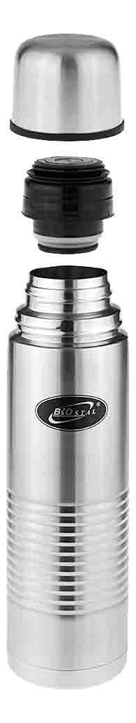 Термос Biostal Классическая серия 0,5 л серебристый/черный