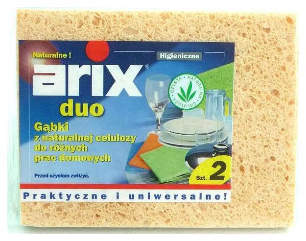 Губка для посуды Arix DUO Кухонная целлюлозная