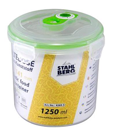 Контейнер для хранения пищи STAHLBERG Вакуумный 1250 мл зеленый фото