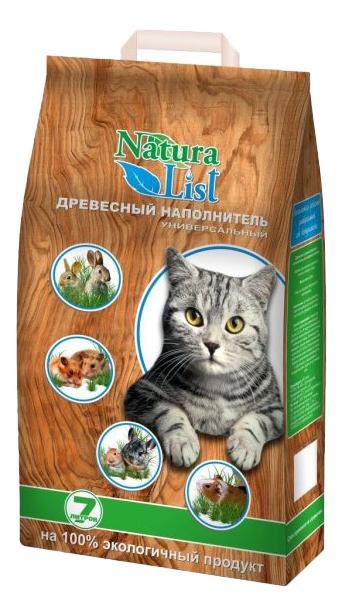 Впитывающий наполнитель для кошек Naturalist древесный, 2.5 кг, 7 л фото