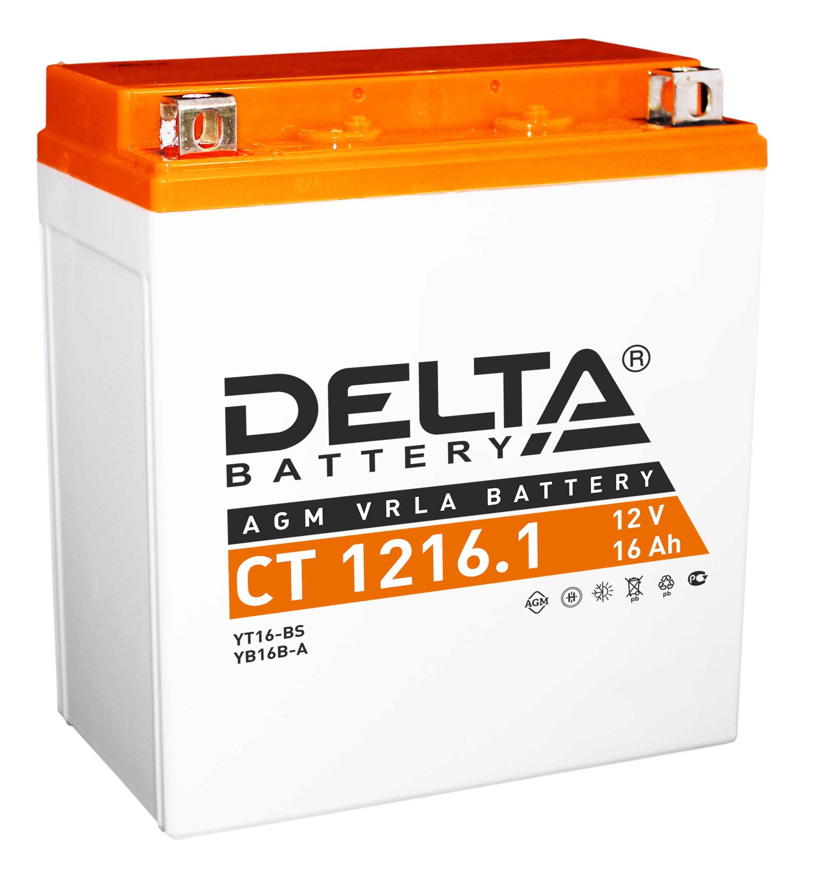 Аккумулятор автомобильный Delta CT 1216.1 16 Ач фото