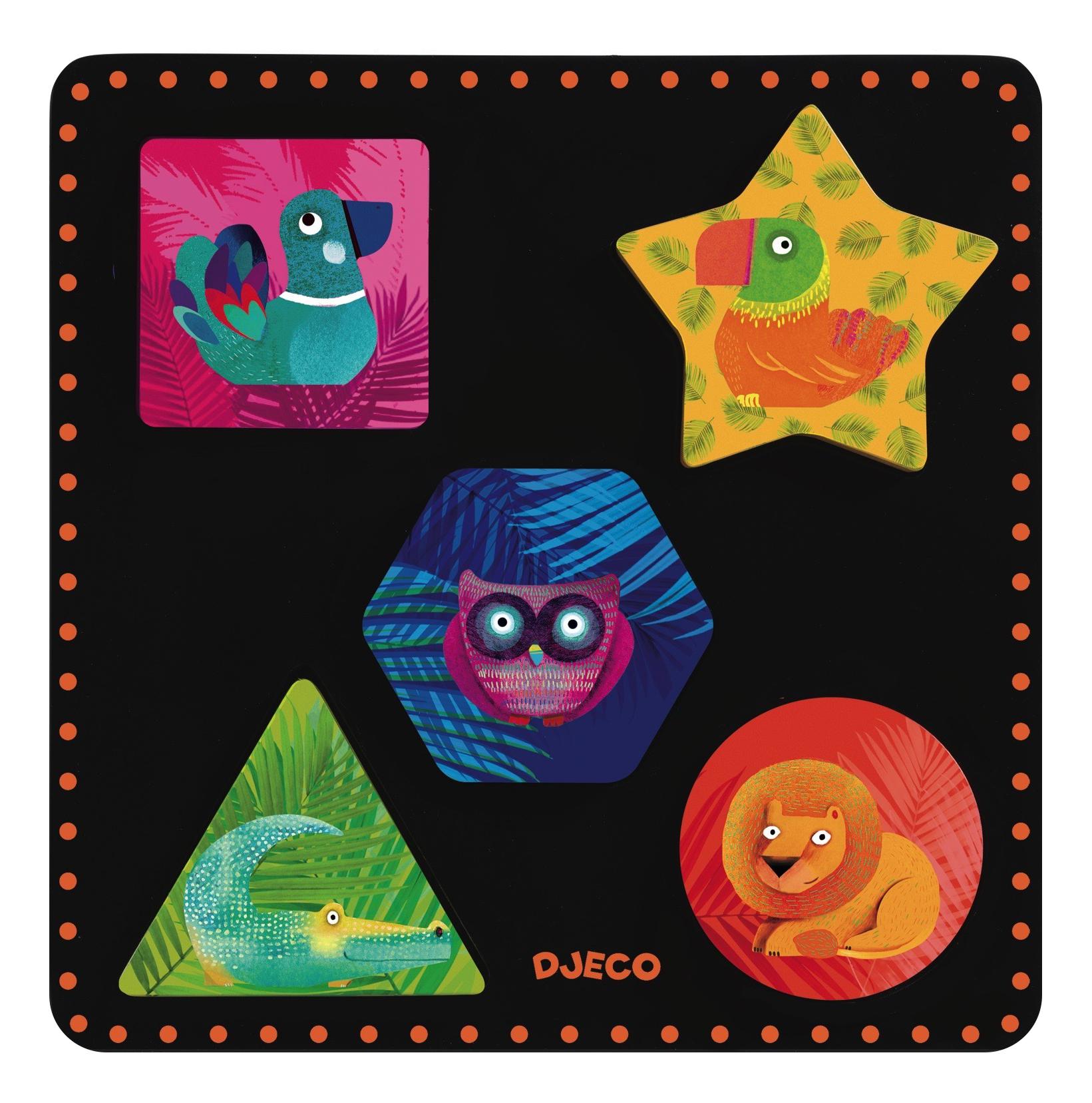 Купить Деревянная игрушка для малышей Djeco Геошик, Развивающие игрушки
