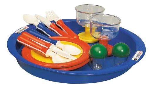 Набор посуды игрушечный Spielstabil Время ланча 13 предметов