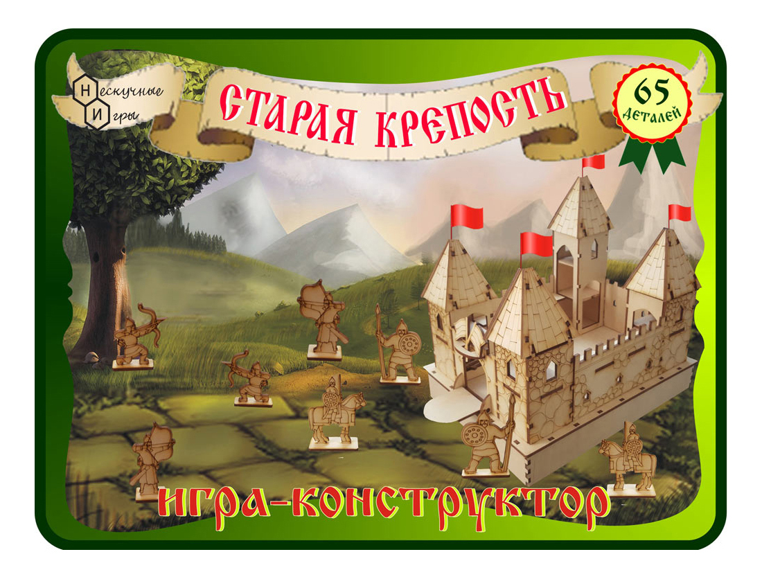 Конструктор деревянный Нескучные игры Старая крепость 7825 Бэмби
