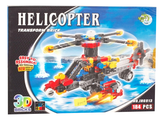 Конструктор Вертолет Dragon Toys Страйп 184 дет.