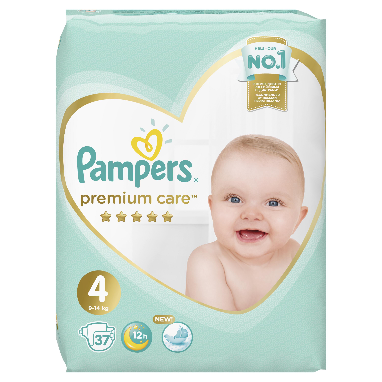 Купить PAMPERS Подгузники Premium Care Maxi (9-14 кг) Экономичная Упаковка 37, Подгузники Pampers Premium Care Maxi (9-14 кг) 37 шт.