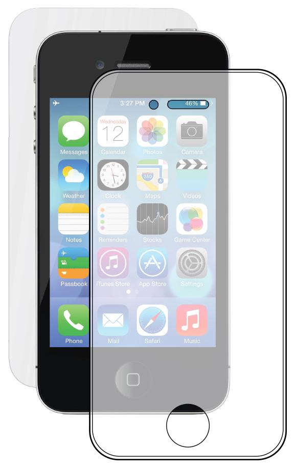 Защитное стекло Deppa для Apple iPhone 4/iPhone 4S